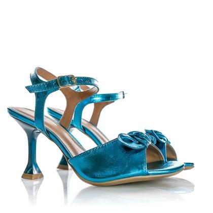 Sandália Natalia Salto Taça Azul