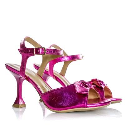 Sandália Natalia Salto Taça Pink