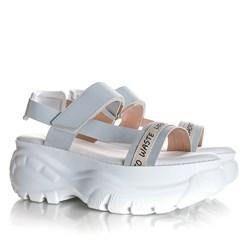 Sandalia Papete Bruna Plataforma Buf Branco