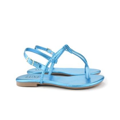 Sandalia Rasteira Lisa Luxe  Azul