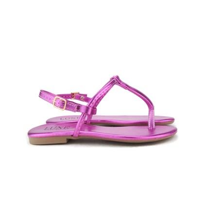 Sandalia Rasteira Lisa Luxe  Pink