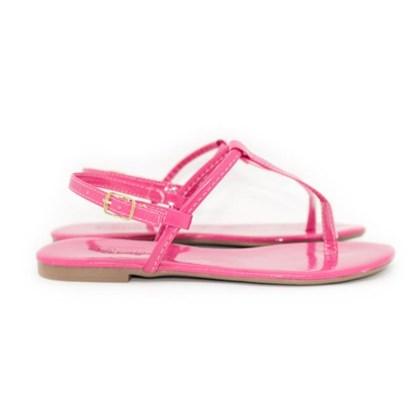 Sandalia Rasteira Pulo da G. Pink Neon