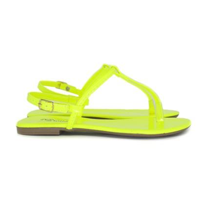 Sandalia Rasteira Pulo da G. Verde Neon