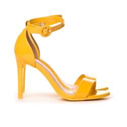 Sandalia Salto Fino Feminina Confortável Lançamento Original Amarelo
