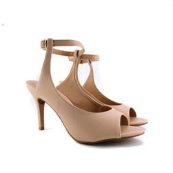 Sandalia Salto Fino Nude