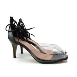 Sandalia Salto Fino Preto