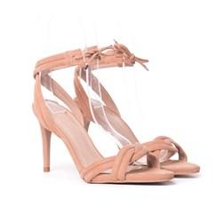 Sandalia Salto Luxe Tan