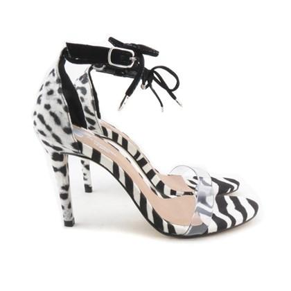 Sandalia Salto Luxe Zebra