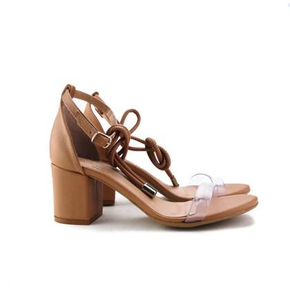 Sandalia Salto Quadrado Antique