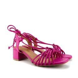 Sandalia Salto Quadrado Pink