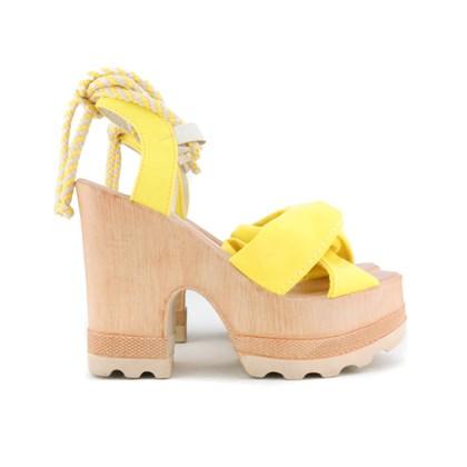 Sandalia Tratorada Luxe Amarelo