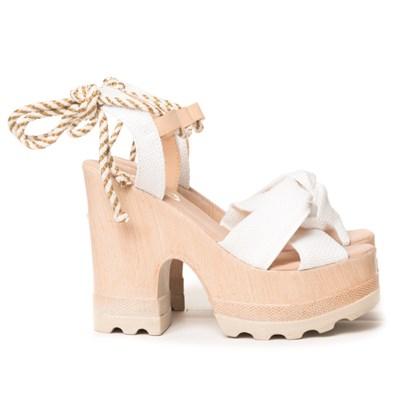 Sandalia Tratorada Luxe Branco