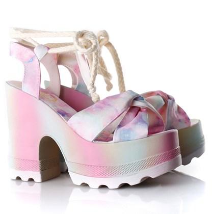 Sandalia Tratorada Luxe Colorida