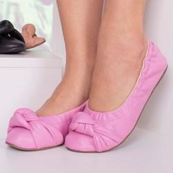 Sapatilha com Elástico Ana Comfy Pink