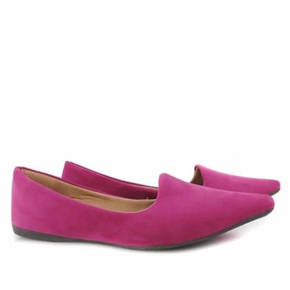 Sapatilha Feminina Bico Fino Mega Estilosa Sliper Pink