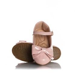 Sapatilha Infantil Menina com Laço e Fivela Rosa