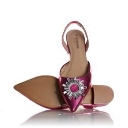 Sapatilha Mule Bico Fino Telma com Pedraria Pink