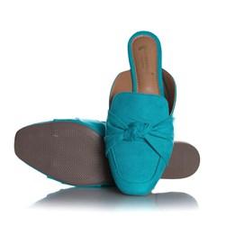 Sapatilha Mule Feminino Liliana com Laço Azul Claro