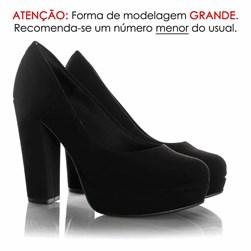 Sapato Bianca Meia Pata Nobuck Preto Nobuck