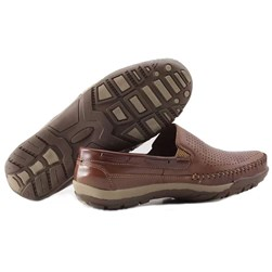 Sapato Couro Masculino Caramelo
