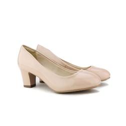 Sapato Feminino Confortável Salto Baixo Grosso Lançamento Areia
