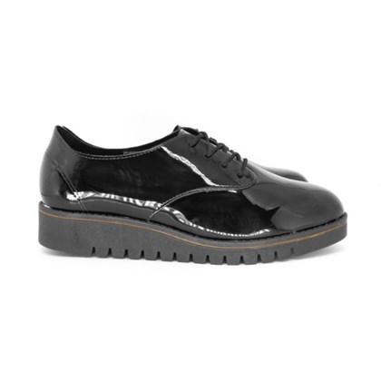 Sapato Feminino Oxford Beira Rio Verniz Tratorado Preto