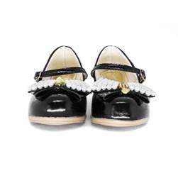 Sapato Infantil Feminino Boneca Com Saltinho E Pérolas Moda Menina Preto