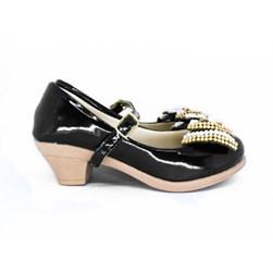 Sapato Infantil Feminino Boneca Com Saltinho Pérolas E Strass Moda Menina Preto