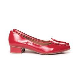 Sapato Pe Vermelho Vermelho