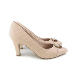 Sapato Scarpin Feminino Matalassê Bico Fino Creme