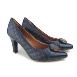 Sapato Scarpin Feminino Matalassê Bico Fino Marinho