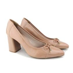 Sapato Scarpin Social Croco com Laço Antique