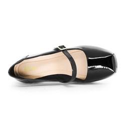 Sapato Social Boneca Com Saltinho Preto