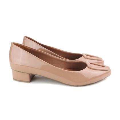 Sapato Social com Fivela Salto Baixo Quadrado Antique