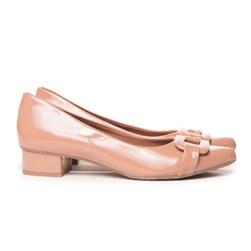 Sapato Social Com Saltinho Bico Fino Rose