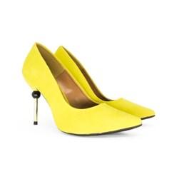 Scarpin Nobuck Luxe Amarelo