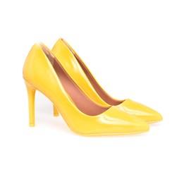 Scarpin Salto Alto Sapato Feminino Lançamento Varias Cores  Amarelo