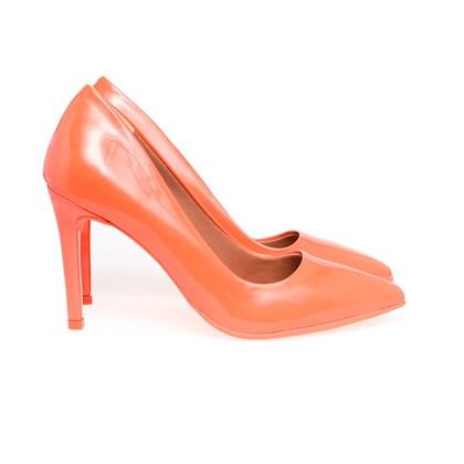 Scarpin Salto Alto Sapato Feminino Lançamento Varias Cores  Laranja