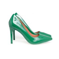 Scarpin Salto Alto Sapato Feminino Lançamento Varias Cores  Verde
