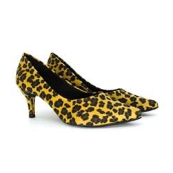 Scarpin Salto Baixo Onça Sapato Feminino Lançamento  Onça
