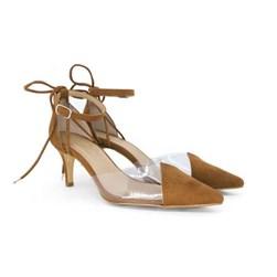 Scarpin Transparente Sapato Vinil Feminino Lançamento  Camel