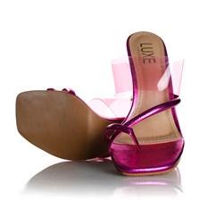 Tamanco Mule Debora com Salto Taça Pink