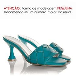 Tamanco Mule Feminino Salto Taça Azul Claro