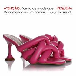 Tamanco Pamela Comfy com Salto Taça Pink