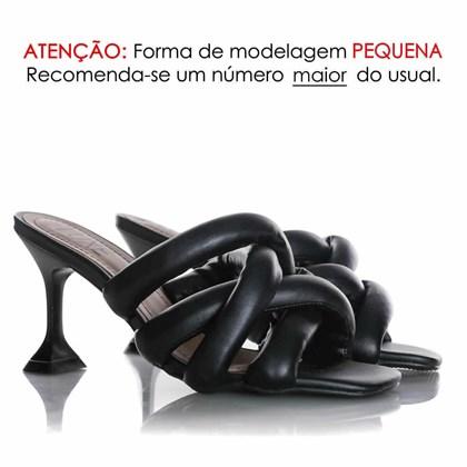 Tamanco Pamela Comfy com Salto Taça Preto