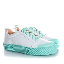 Tenis Casual Feminino Daiane Candy Color Verde Agua