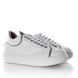 Tenis Casual Feminino Dora Comfy Cadarço Colorido Branco/Cinza