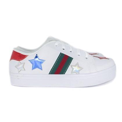 Tênis Casual Femino com Estrela Lateral Branco