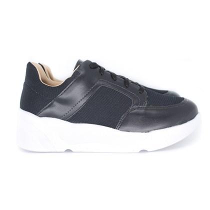 Tenis Dad Sneakers OffLine Flatform Preto Napa