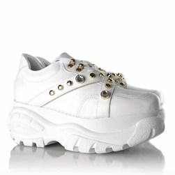 Tênis Feminino Buf Pedraria Chunky Sneaker  Branco Napa